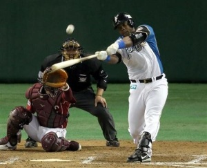 Abreu con los Fighters. (Foto: sanspo.com)
