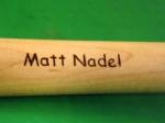 El nombre de Matt Nadel. (Foto: Reynaldo Cruz)