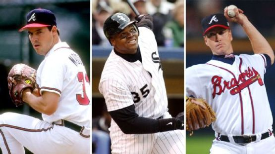 Maddux, Thomas y Glavine fueron electos. (Fotos: Getty Images)