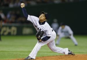 Takahiro Norimoto estuvo perfecto durante cinco entradas con seis ponches y un Game Score de 73. (Foto: KYODO)