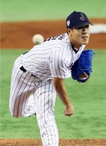 Yuji Nishino retiró el noveno con un ponche. (Foto: KYODO)