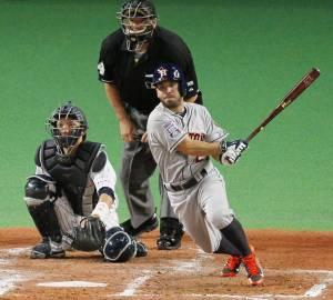 José Altuve fue el mejor bateador por las Estrellas de la MLB. (Foto: KYODO)