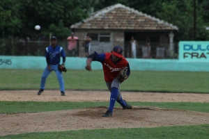 Yaisel SIerra durante un Juego de Estrellas en Serie Provincial. (Foto: reynaldo Cruz/ UB)