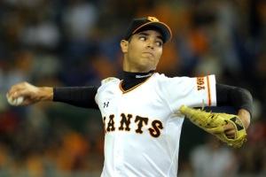 Héctor Mendoza durante su debut con el Ichi-gun de los Yomiuri Giants. (Foto: Yomiuri Giants)