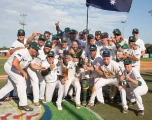 Sin sorpresas: Los Aussies celebran su boleto al Clásico. (Foto: WBC)