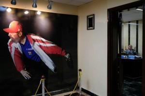 Foto de Fidel Castro en la entrada de la oficina de Heriberto Suárez. (Foto: Bonnie Jo Mount/ The Washington Post)
