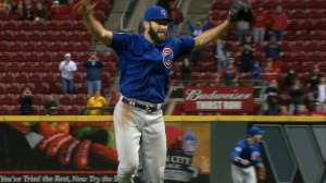 Jake Arrieta celerba el segundo no-hit-no-run de su carrera. (Foto: MLB.com)