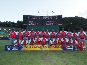 La victoria de Cuba en el Mundial 15U le ayudó a alejarse de Canadá y pegarse a Taiwán. (Foto: Tomada de WBSC)