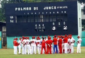 El equipo de Matanzas en el Palmar de Junco. (Foto: Archivo de Granma)